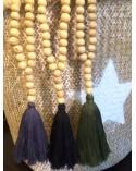 Sautoir perles de bois