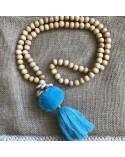 Sautoir Blue Pompon