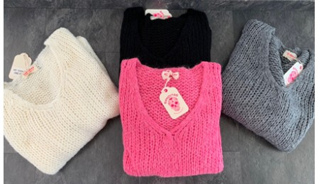 Pull maille coton